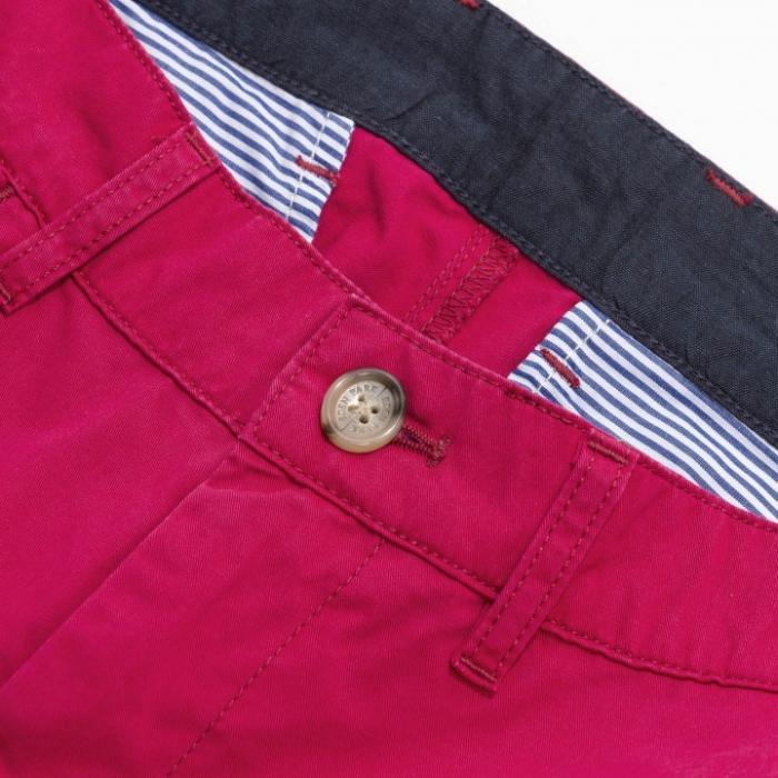 Bermuda 5 poches regular fit en coton uni