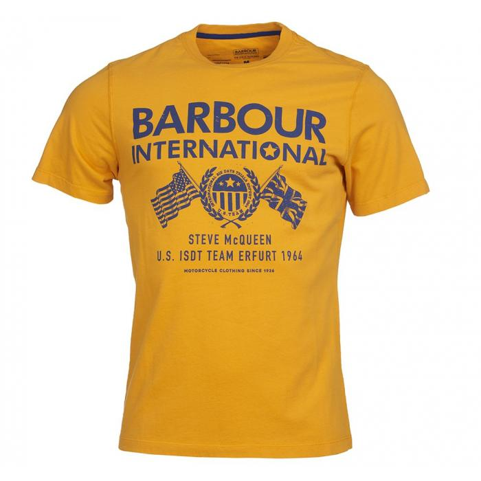 B.INTL T-SHIRT STEVE MCQUEEN ™ RACE FLAGS