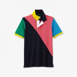 Polo Eden 80's en piqué de coton pima colorblock