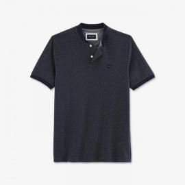 Polo Hexa slim fit chiné à col teddy