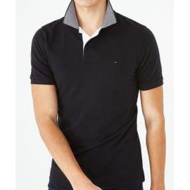 Polo FFR bleu marine slim fit en coton stretch