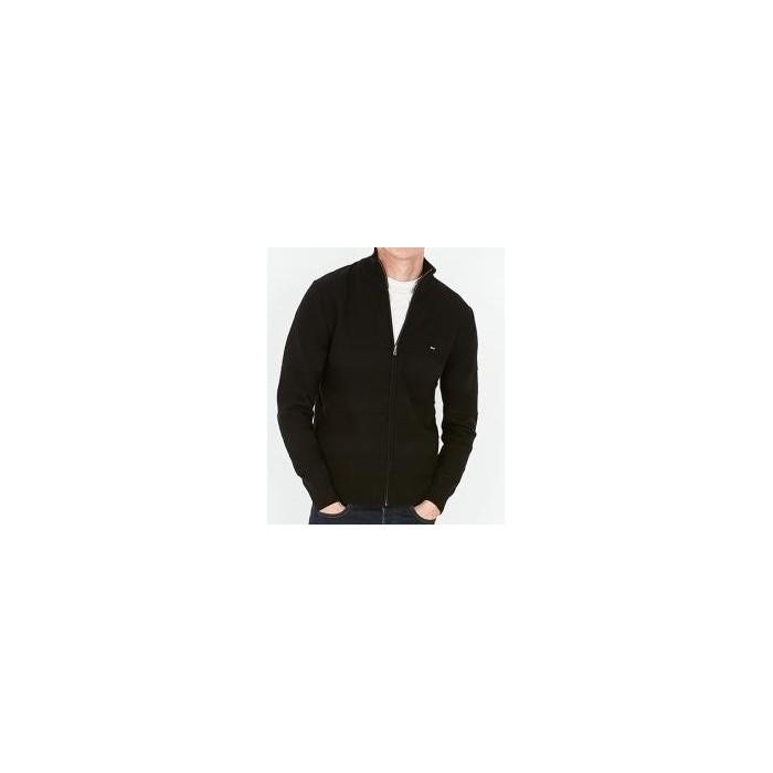 Cardigan en coton texturé effet rayé