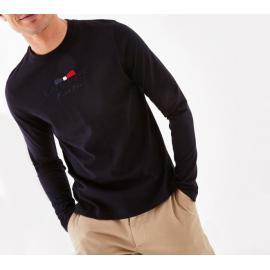 T-shirt à manches longues en coton brodé.