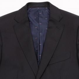 Blazer bleu marine slim fit 100 % laine.