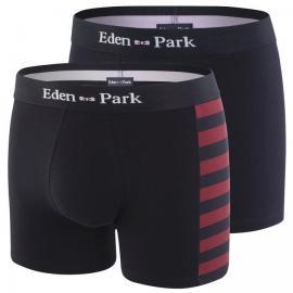 Pack de 2 boxers dépareillés en coton stretch.