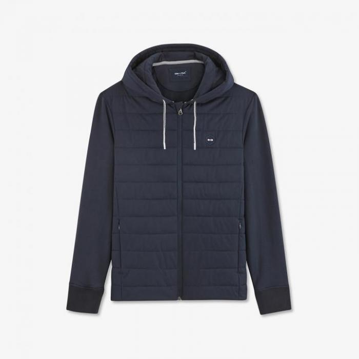 Blouson Hexa Atlantic bleu marine slim fit.