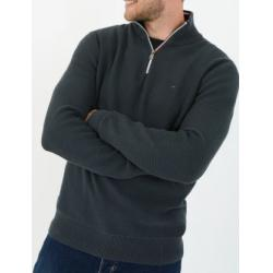 PULL COL CAMIONNEUR ZIPPE ZN COTON